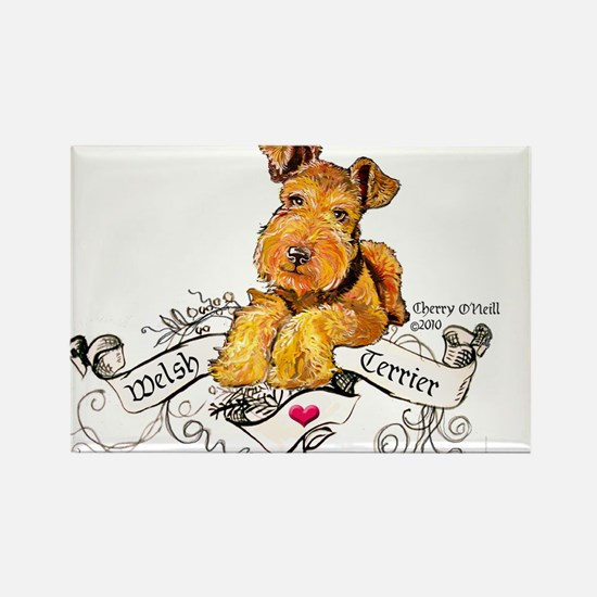 Welsh Terrier World Rectangle Magnet