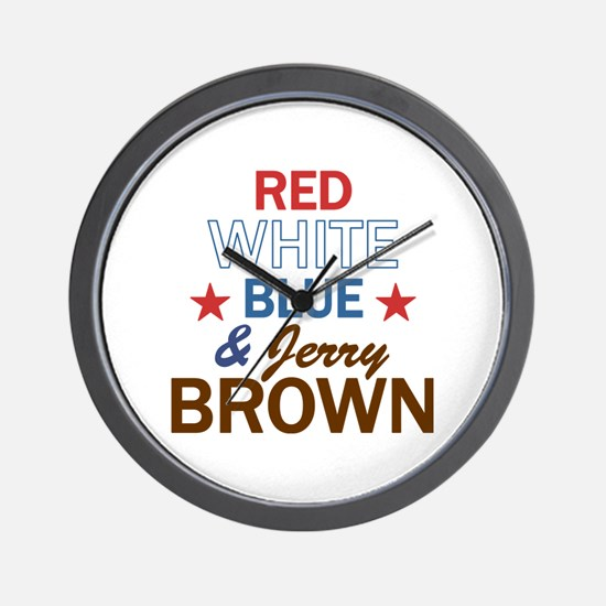 Jerry Brown Wall Clock