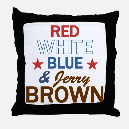 Jerry Brown Throw Pillow