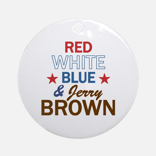 Jerry Brown Ornament (Round)