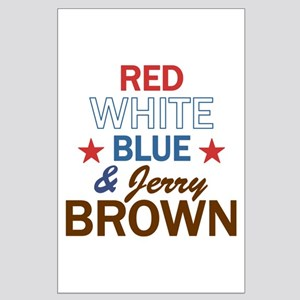 Jerry Brown Large Poster