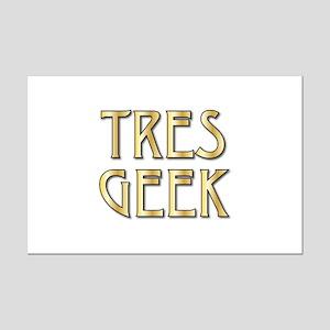 Tres Geek Mini Poster Print
