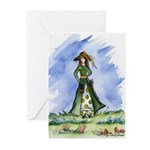 St. Patrick's Day Lass Greeting Cards (Package of