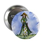 St. Patrick's Day Lass Button