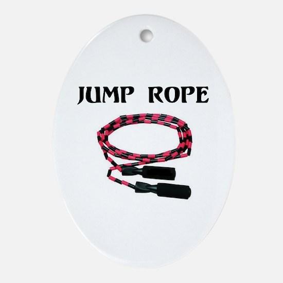 EYE JUMP ROPE Ornament (Oval)