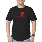 I LOVE MONHEGAN Men's Fitted T-Shirt (dark)