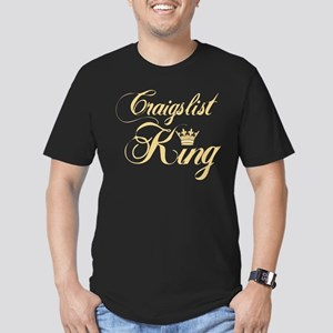 Craigslist King Men's Fitted T-Shirt (dark)