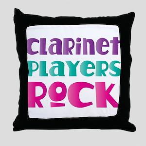 Clarinet Players Rock Throw Pillow