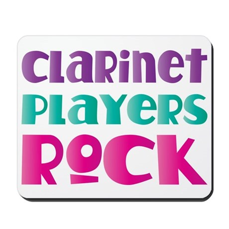 Clarinet Players Rock Mousepad