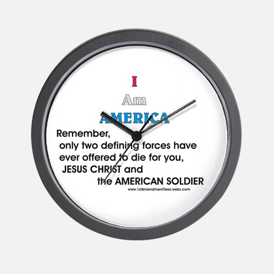 JC & American Soldier Wall Clock