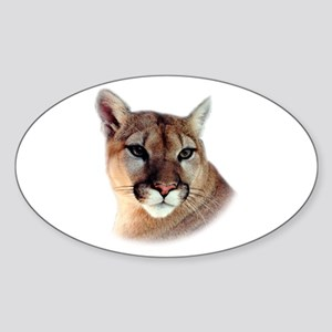 Cindy Printed CougarWear Oval Sticker