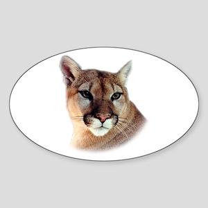 Cindy Printed CougarWear Oval Sticker