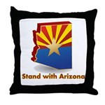 Stand with Arizona Throw Pillow