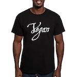 Vegan Men's Fitted T-Shirt (dark)