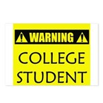 WARNING: College Student Postcards (Package of 8)