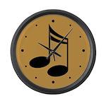 Gold Music Wall Clock