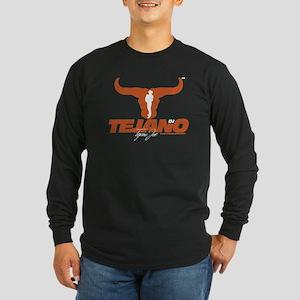 Tejano dj Texas Orange Long Sleeve Dark T-Shirt