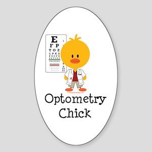 Optometry Chick Optometrist Sticker (Oval)