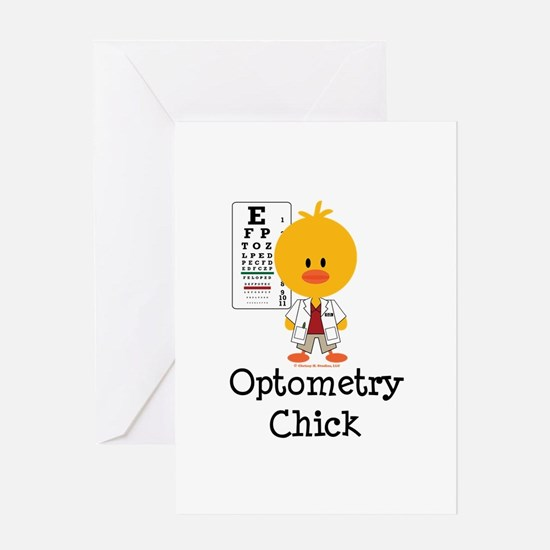 Optometry Chick Optometrist Greeting Card