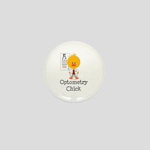 Optometry Chick Optometrist Mini Button
