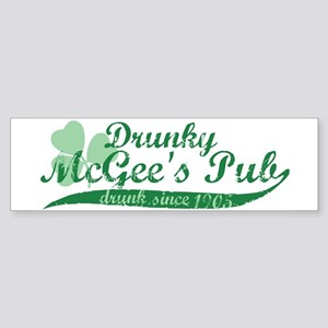 Drunky McGee's Pub - Drunk Since 1905 Sticker (Bum