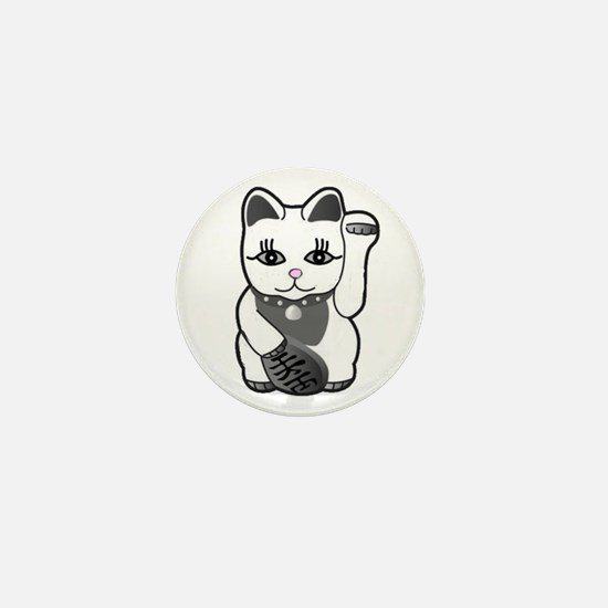 Lucky Cat w/Pink Nose Mini Button