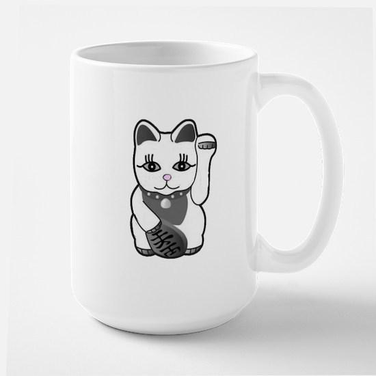 Lucky Cat w/Pink Nose Large Mug