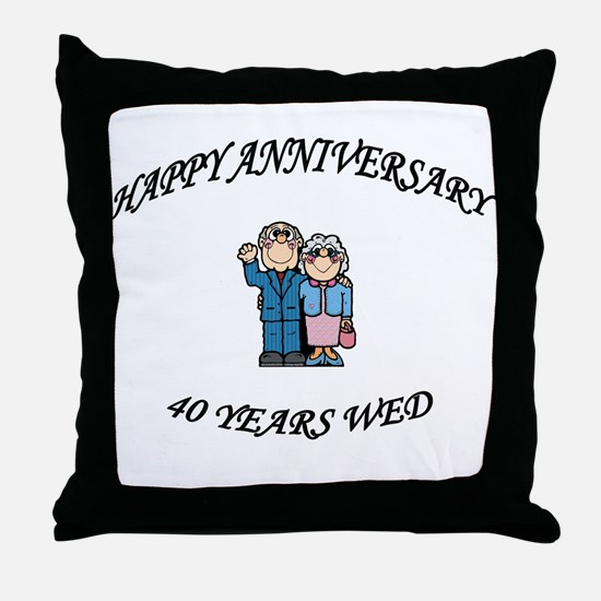 Cool Fortieth Throw Pillow