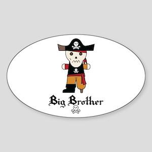 Pirate 1 Big Brother Sticker (Oval)