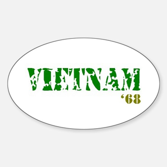 Vietnam '68 Sticker (Oval)