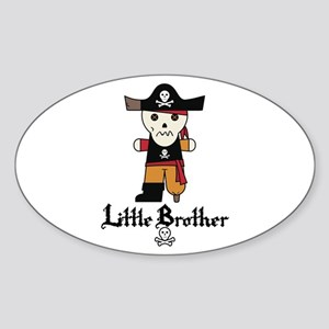 Pirate 1 Little Brother Sticker (Oval)