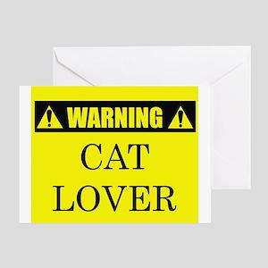 WARNING: Cat Lover Greeting Card