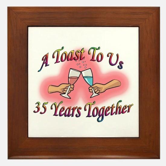 Cute 35th wedding anniversary Framed Tile