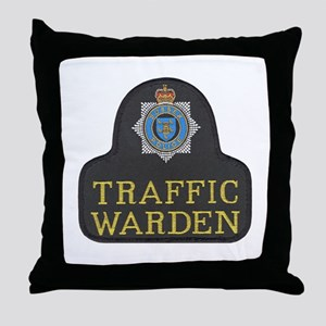 Sussex Police Traffic Warden Throw Pillow
