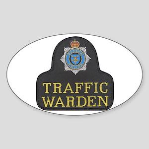 Sussex Police Traffic Warden Sticker (Oval)