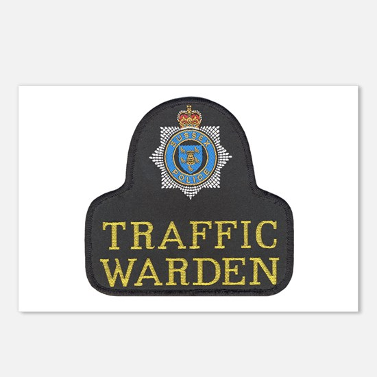 Sussex Police Traffic Warden Postcards (Package of