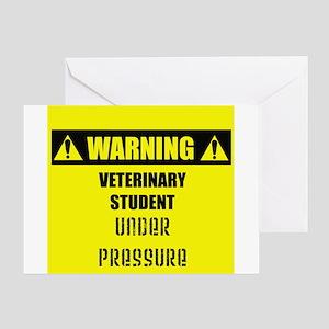 WARNING: Vet Student Under Pressure Greeting Card