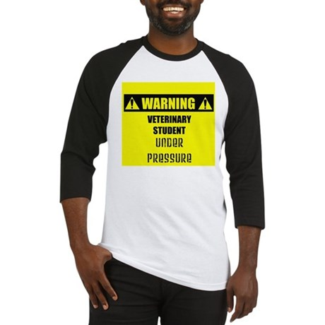 WARNING: Vet Student Under Pressure Baseball Jerse