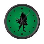 Green Scottish Bagpiper Music Clock