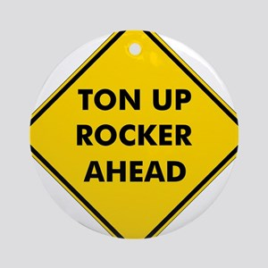 Ton Up Rocker Ornament (Round)