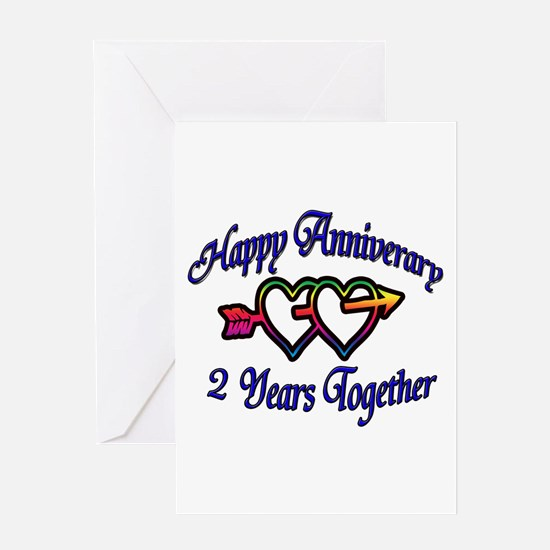 Unique 2nd wedding anniversary Greeting Card