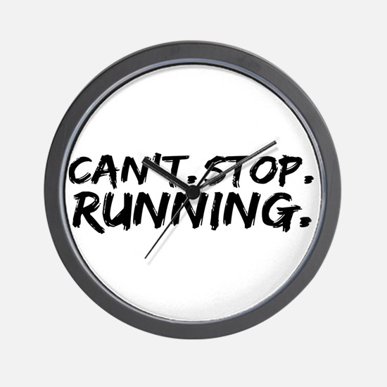 Can't Stop Running Wall Clock