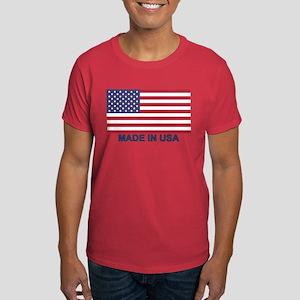 MADE IN USA (w/flag) Dark T-Shirt