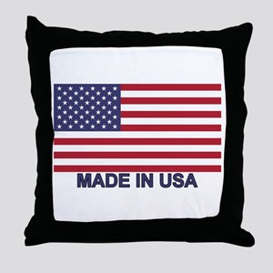 MADE IN USA (w/flag) Throw Pillow