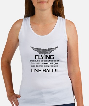 Flying... One Ball! - Army Style Women's Tank Top