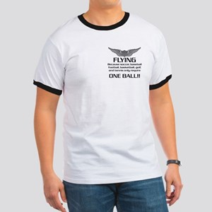 Flying... One Ball! - Army Style Ringer T