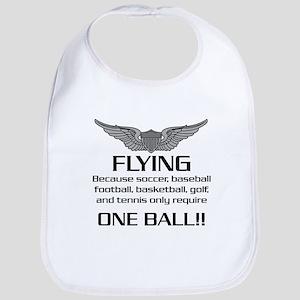 Flying... One Ball! - Army Style Bib