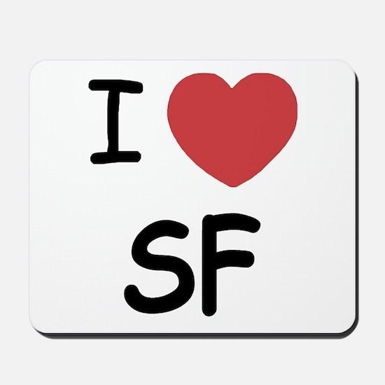 I heart SF Mousepad