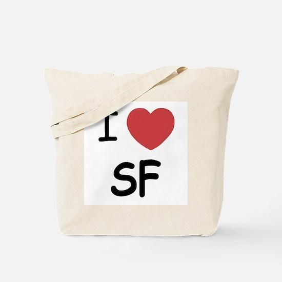 I heart SF Tote Bag