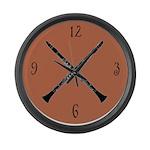 Oboe Music Large Wall Clock